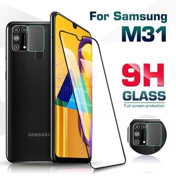 Перейти на Алиэкспресс и купить 2в1 полное покрытие закаленное стекло для samsung galaxy M31 M315F Защитная пленка для объектива камеры M30s M307F Защитная пленка для экрана m30 m 31 30s
