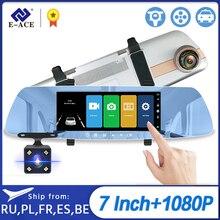 E ACE Auto Dvr 7.0 Inch Achteruitkijkspiegel Fhd 1080P Dashcam Dual Lens Video Recorder Nachtzicht Auto Registrator Dash cam
