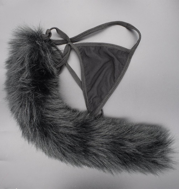 Fox Rabbit Panties Tail Cute Sexy Underwear Seamless Cotton Thong Wool Ball Underwear Fox Tail Panties Erotic LIngerie For Women