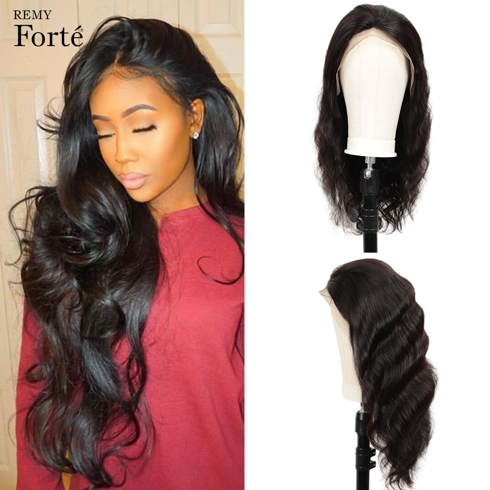 Remy Forte 13x4 Lace Front Human Hair Wigs 100% Remy Brazilian Hair Wigs Short Human Hair Wigs Natural Color Body Wave Lace Wigs