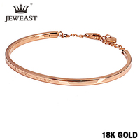 XXX 18k Gold Bangles 2017 New Women Girl Miss Gift Bracelets Rose Lucky Star Decorated Fashion Trendy jewelry Party Real
