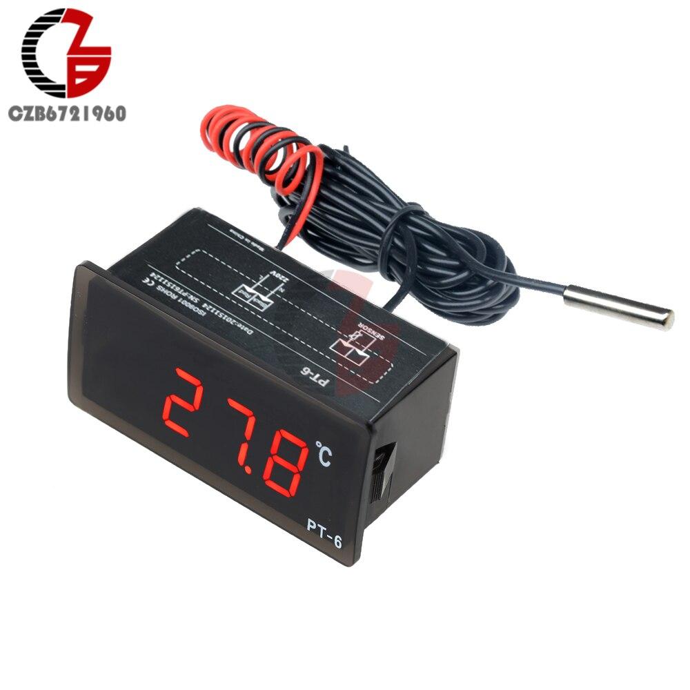 220V Digital Thermometer Indoor Outdoor Temperature Meter Weather Station Aquarium Pool boiler Car Temperature Monitor Pyrometer