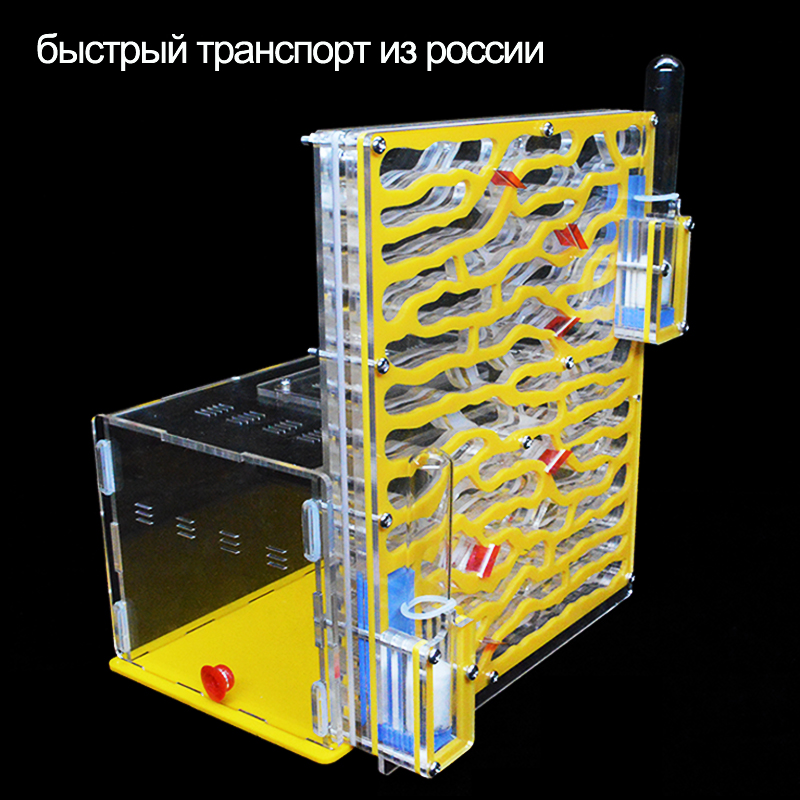 DIY Acrylic Ant Farm Big Ants House With Feeding Area Workshop Large Ant Nest 6 Layers Villa Insect Pet Anthill 19*12.8*22cm