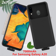Power Cases For Samsung Galaxy A20 Power Bank Battery Charger Case 7000mAh External Shockproof Phone Battery Charging Case Cover