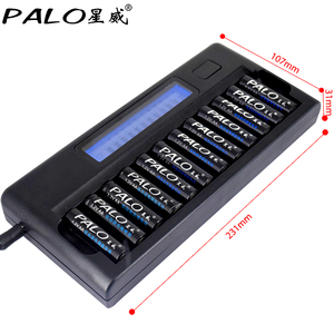 Image 5 - Fast Smart 12 Slots New type Charger NIMH NICD AA  AAA Smart LCD Battery Charger for 1.2v AA AAA NiMH NICD rechargeable battery