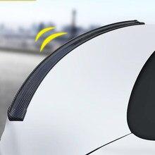 1,5 M auto 5D carbon fiber spoiler gummi streifen für Volvo S40 S60 S80 XC60 XC90 V40 V60 C30 XC70 v70/Mini Cooper R50 R52 R53 R55