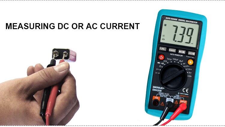 ALL SUN Digital Multimete Continuity Diode Transistor Battery Tester AC/DC Ammeter Voltmeter Ohm Portable Voltage Meter EM420A/EM420B