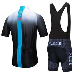 Image 2 - 2020 takım siyah beyaz yeni INEOS PRO bisiklet jersey önlükler şort takım elbise Ropa Ciclismo erkek yaz hızlı kuru bisiklet Maillot giyim