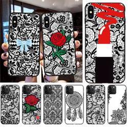 Сексуальный цветочный кружевной чехол для телефона с мандалой для iphone 12 pro max 11 pro XS MAX 8 7 6 6S Plus X 5S SE 2020 XR