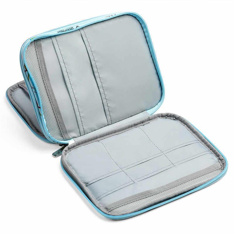Fransande Empty Knitting Needles Case Travel Storage Organizer Storage Bag for Circular Knitting Needles and Accessories Kit Bag