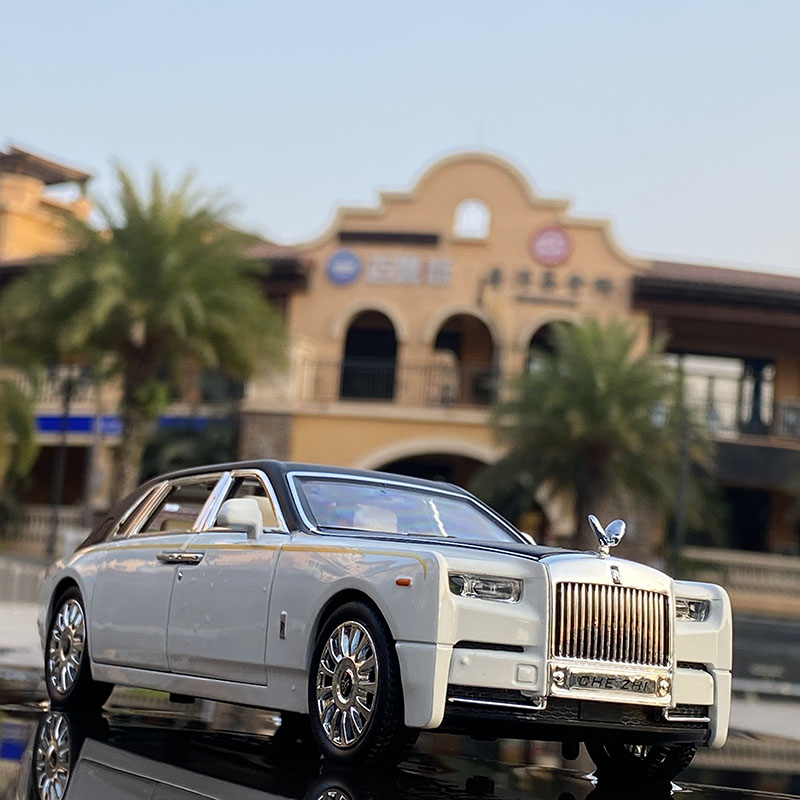 1:24 Rolls Royce Phantom Alloy Car Model Diecasts & Toy Vehicles Metal Car Model Collection Simulation Sound Light Kids Toy Gift 1