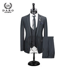2019 New Men's Fashion Boutique Plaid Wedding Dress Suit Three-piece Male Formal Business Casual Suits( Jacket + Vest + Pants )(China)