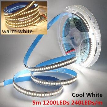 LEDストリップ2835 SMD 240LEDs / m 5M 300/600/1200 Leds DC12V高輝度フレキシブルLEDロープリボンテープライトウォームホワイト/コールドホワイト1