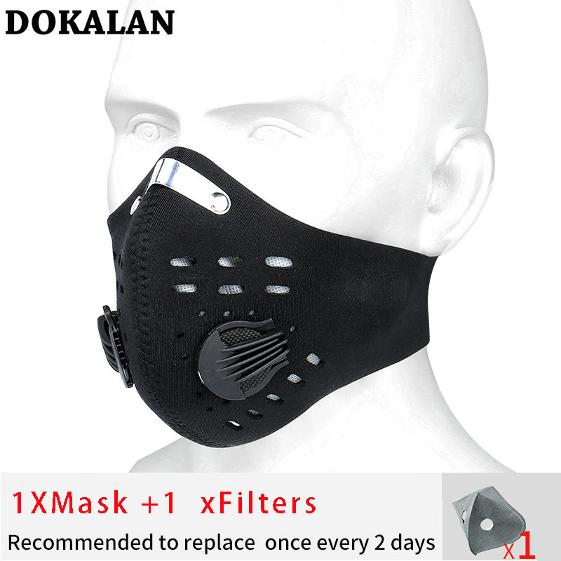2020 Sports Mask Mouth Cycling Face Mask Anti-Pollution Cycling Mask Dust Mаска PM2.5 Filters Mascarillas Mascherine Mascaras
