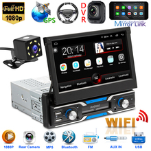 Radio-Receiver Decoration Car-Parts Retractable-Display Android 10.1 Outdoor Personal