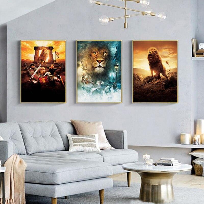 Постеры к фильму хроники нарнии льва, ведьма и гардероб Художественная печать на холсте картины Mordern стены искусства гостиной дома