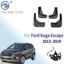 Conjunto mudflaps para ford kuga escape 2013 2014 2015 2016 2017 2018 2019 respingo guardas mud flaps dianteiro traseiro para-lamas fender