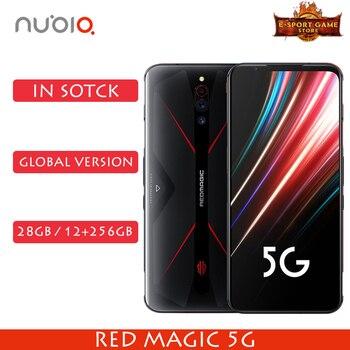 Перейти на Алиэкспресс и купить Глобальная версия Nubia Red Magic 5G, игровой телефон Snapdragon 865, 8/12 ГБ ОЗУ 128 Гб ПЗУ, 144 Гц, частота обновления, смартфон OTA Update