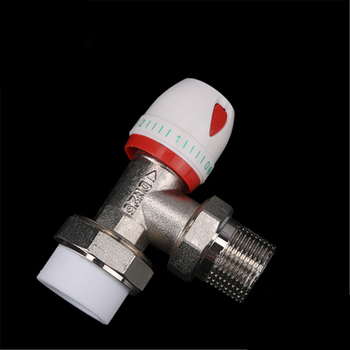 All Copper Ppr Temperature Control Valve Straight Angle Radiator Manual Regulating 4 Points 6 1 Inch
