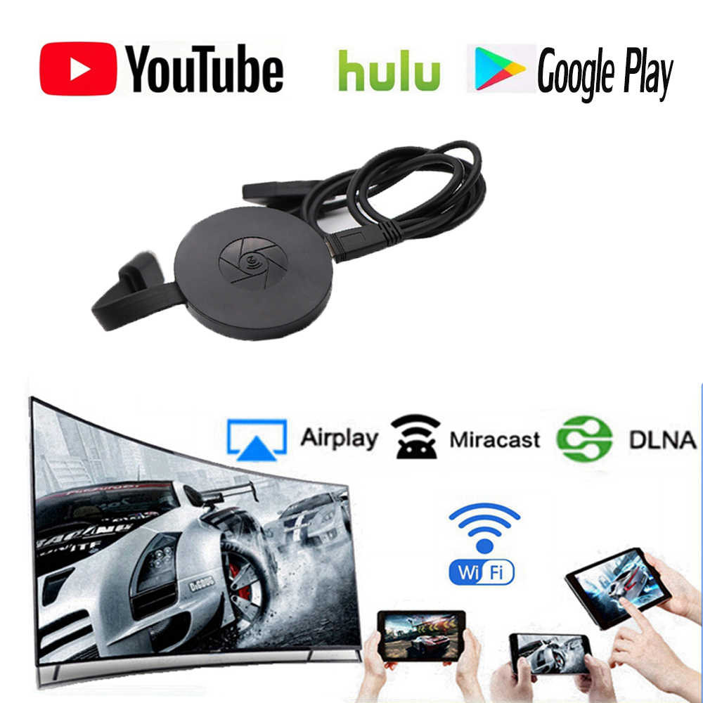 Newst 1080 P Wi Fi Tampilan Dongle YouTube Airplay Miracast TV Stick untuk Google Chromecast 2 3 Chrome Crome Cast Cromecast 2