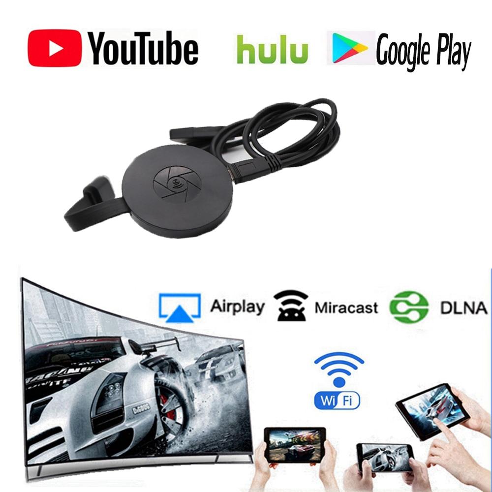 Newst 1080p WiFi Display Dongle YouTube AirPlay Miracast TV Stick for Google Chromecast 2 3 Chrome Crome Cast Cromecast 2