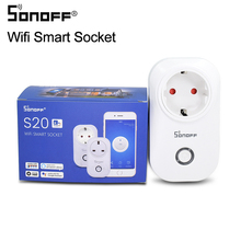 цена на Itead Sonoff S20 wifi wireless remote control socket smart timer plug Smart Home Power Socket EU Standard Via App Phone