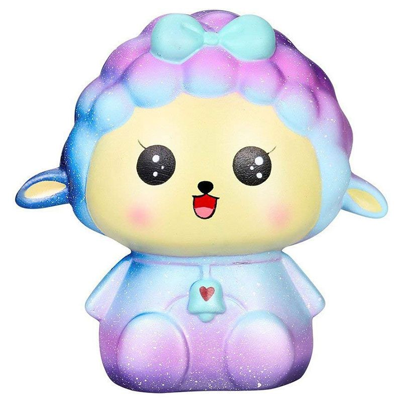 Squishy Toy, Slow Rising Squeeze Soft Cute Fun Galaxy Sheep Jumbo Scented Squishies Stress Relief Toys Phone Charm Gifts For Kid