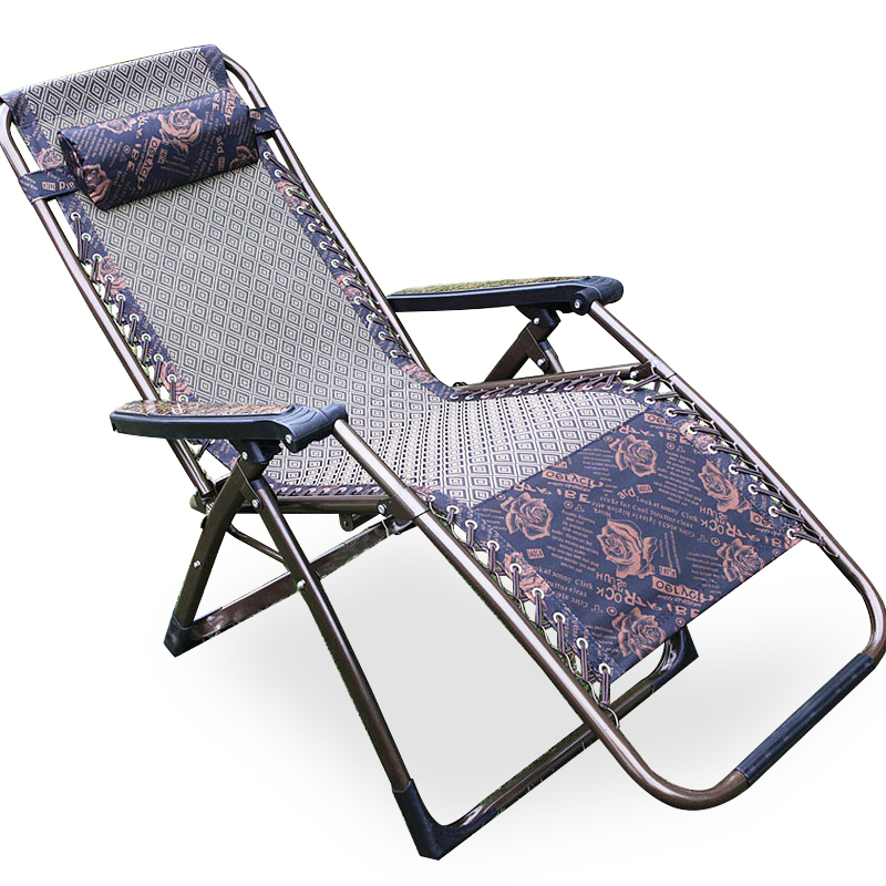 Lounge Chair Folding Lunch Break Chair For The Elderly Summer Nap Bed Cool Single Portable Small Pregnant Women
