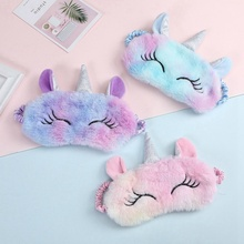 Eye-Mask Unicorn Travel Party Cartoon Home 3D Eyeshade Gifts Variety Suitable-For