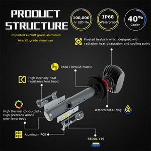 Image 4 - Infitary 2 個cspチップ車のヘッドライト電球H7 led H4 H1 H3 H8 H27 880 9005 9006 9007 72 ワット 12000LM自動ヘッドランプ 6500 18k 12 220vライト