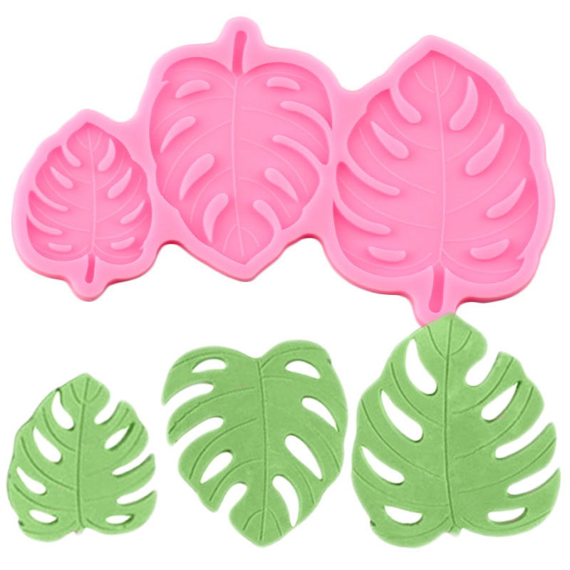 3D Leaves Cake Border Silicone Molds Turtle Leaf Fondant Cake Decorating Tools Chocolate Gumpaste Mould Candy Polymer Clay Mold