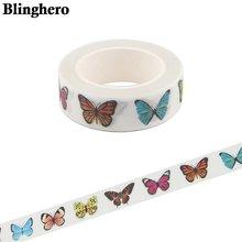 Ca1582 15 мм x 5 м васи клейкая лента красочная бабочка декор
