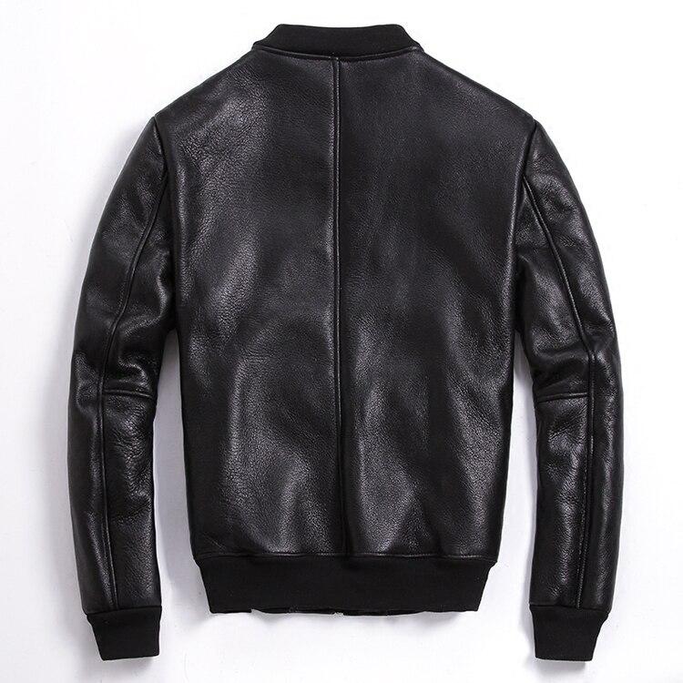 Leather Sheep Shearing Winter Coat Men Korean Plus Size Baseball Jacket For Mens Clothing 2020 Casaco 6-902 YY968