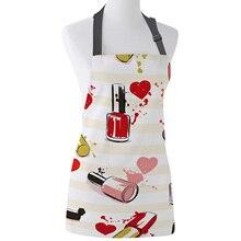 Tophome кухонный фартук, косметический лак для ногтей, женские Мультяшные регулируемые фартуки из парусины для мужчин, женщин, детей, инструменты для чистки дома