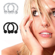 Hot Sale Anti Allergy Nose Ear Nail Eyebrow Nail Puncture Women's Sexy Lip Ring C-type Ear Bone Nail Hoop Spacer Ring Jewelry
