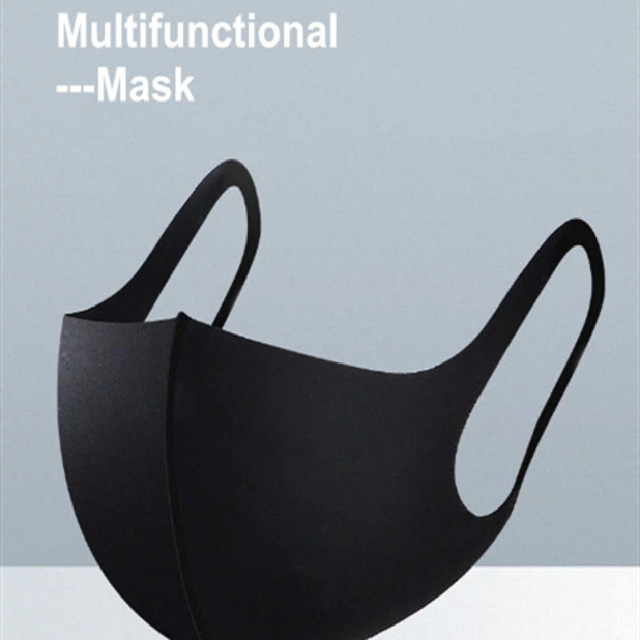 10 PCS  Nano-polyurethane Black Mouth Mask Anti Dust Mask Activated Carbon Windproof Mouth-muffle Bacteria Proof Flu Face Mask 4