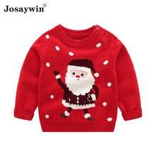 Детский Рождественский свитер для маленьких девочек вязаный