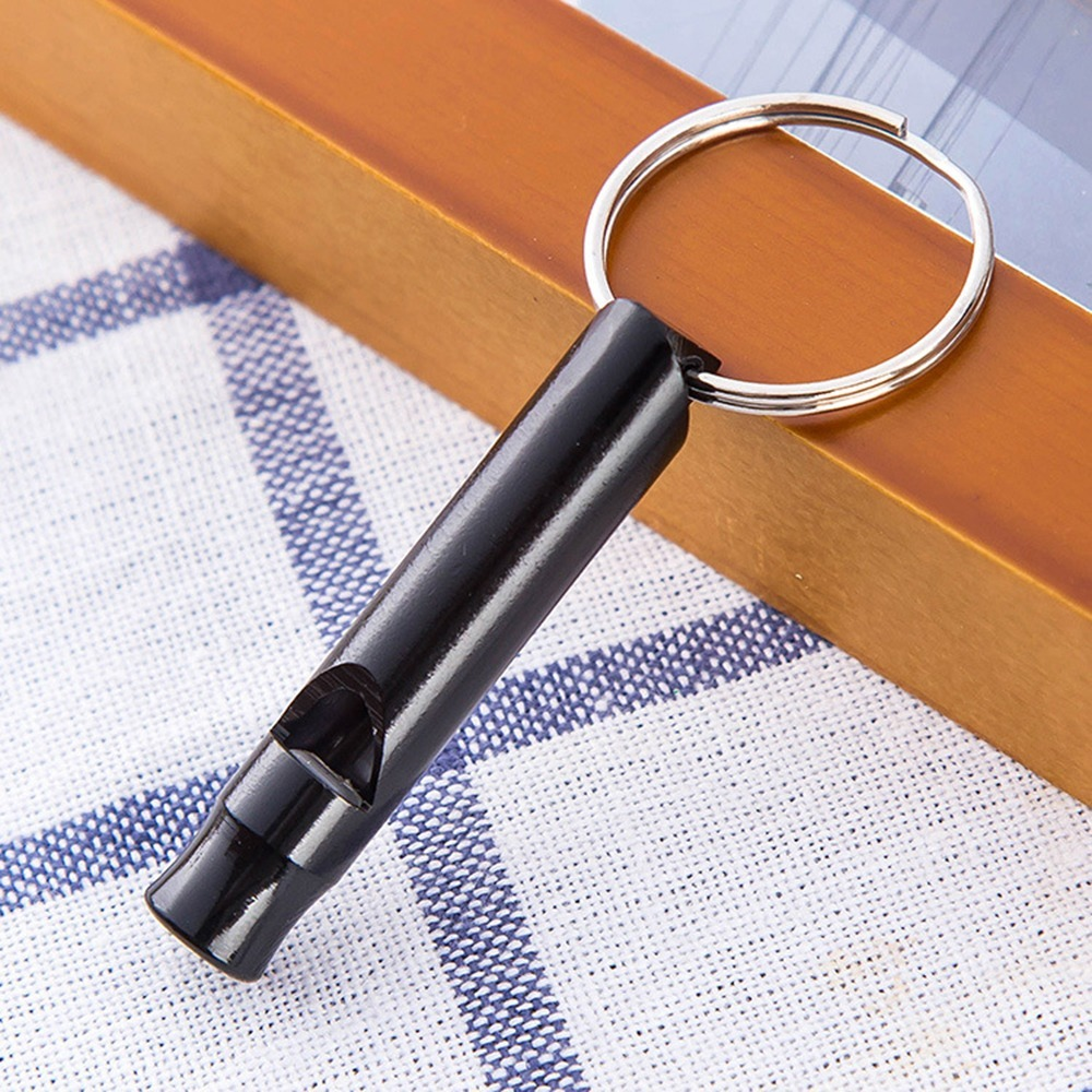 3Pcs Metal Whistle With Keychain For Outdoor Survival Emergency Mini Size Multifunctional Equipment Kit High Quality Gift