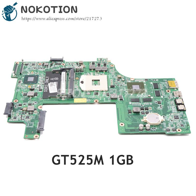 NOKOTION For Dell Inspiron 17R N7110 Laptop Motherboard DAV03AMB8E0 CN-037F3F 037F3F 37F3F HM67 DDR3 GT525M 1GB