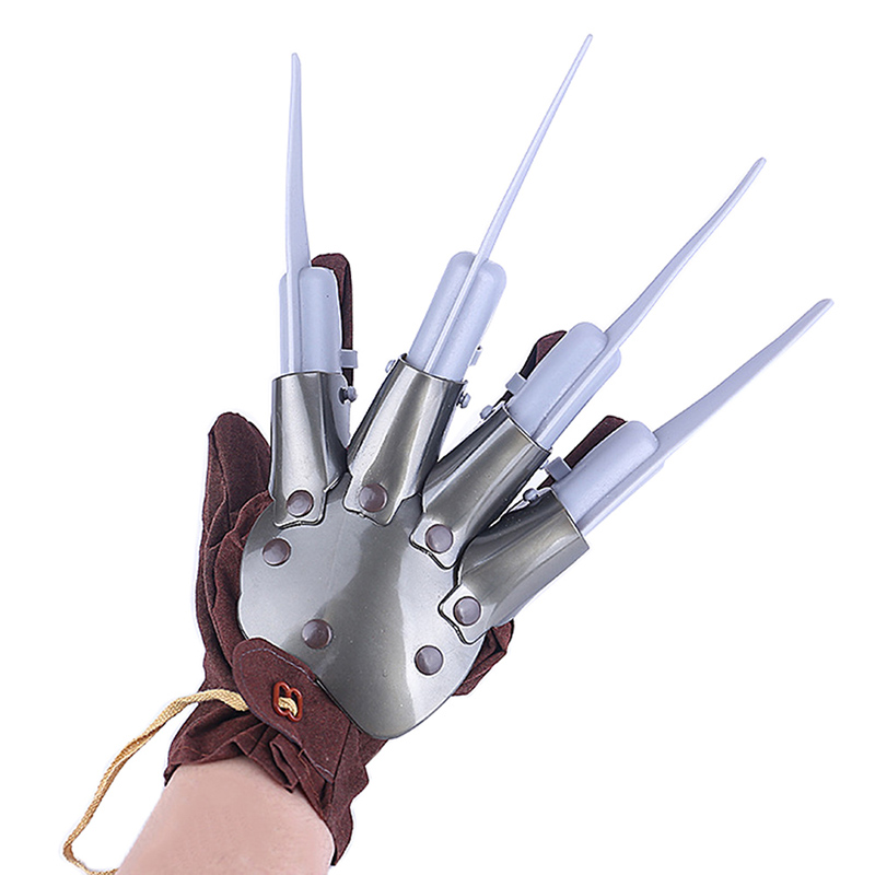 Ghost Claw Gloves Halloween Costume Accessory With Nails A Nightmare On Elm Street Freddy Glove Vosplay Terrorist Props