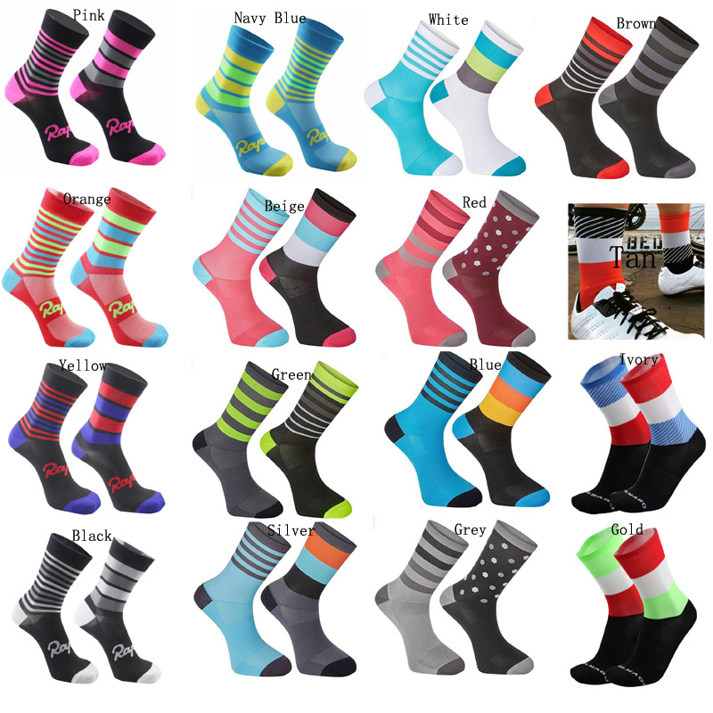 ZFLAMERNew Cycling Socks Top Quality Professional Brand Sport Socks Breathable Bicycle Sock Outdoor Racing Big Size Men Women
