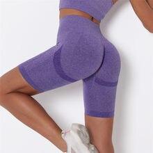 Cintura alta calções de yoga mulheres sem costura roupas esportivas ginásio empurrar para cima leggings feminino correndo workout calças curtas bottoms