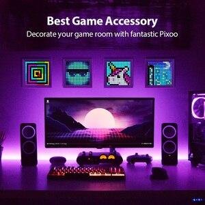 Image 4 - Divoom Pixoo dijital fotoğraf çerçevesi çalar saat ile piksel sanat programlanabilir LED ekran, Neon işık burcu dekor, yeni yıl hediye 2021