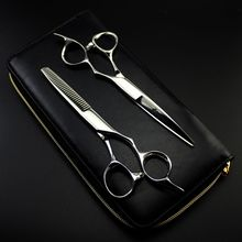 6 Inch Sharp  Japan 440C Professional Human Hair Scissors Hairdressing Scissors Barber Cutting Shears Thinning Scissors цена 2017