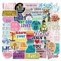 10 Вт, 30 Вт, 50 шт Иисуса христиане Религия высказываний Стикеры s чемодан для скейтборда морозильник граффити Чемодан мотоцикл DIY Прохладный С...