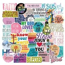 10/30/50PCS Jesus Christians Religion Sayings Stickers Skateboard Suitcase Freezer Graffiti Luggage Motorcycle DIY Cool Sticker