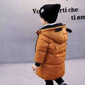 Image 3 - CROAL CHERIE chaquetas para niños, abrigo de piel para bebés niñas, abrigos de invierno, ropa de lana para niñas, Parkas de invierno con orejas de oso