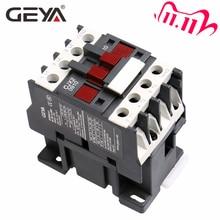 GEYA CJX2-0910 1210 1810  Din Rail Magnetic Contactor 220V or 380VAC Contactor 3Pole 9A 12A 18A 1NO LC1D-09 Contactor