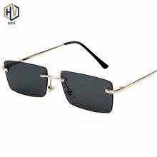 Vintage Rectangle Sunglasses Women Cat Eye Metal Frame 2019