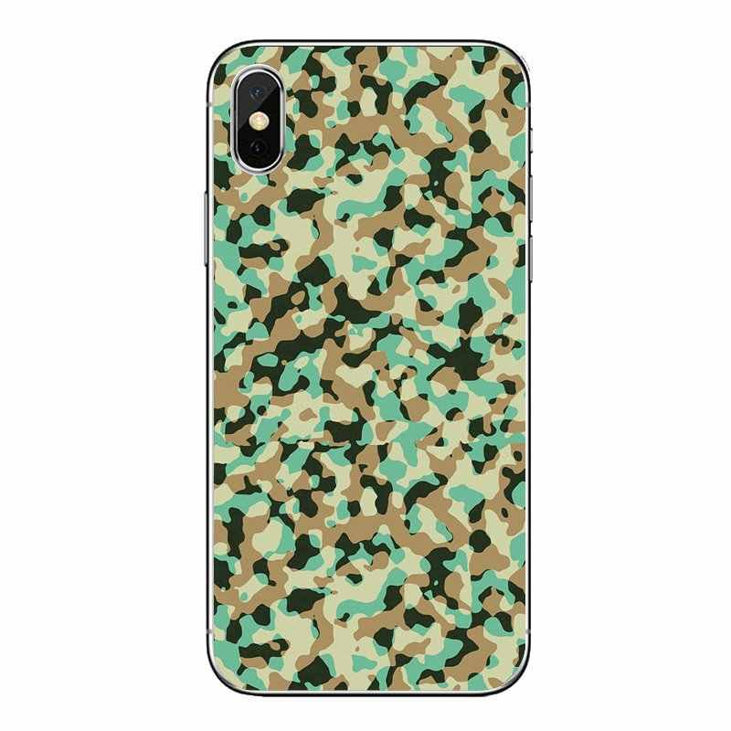Per Huawei Honor 8 8C 8X9 10 7A 7C Compagno 10 20 Lite Pro P Smart Più Morbido trasparente Custodie Coperture Army Camo Camouflage